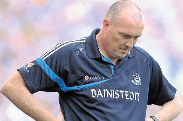 Pat Gilroy all alone with his thoughts as Dublin go down to Mayo