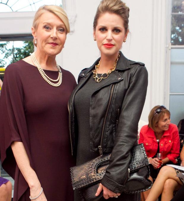Louise Kennedy with Amy Huberman at her autumn/winter collection show.