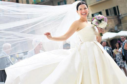 Actress and TV presenter Caroline Morahan married Daithi O Caoimh in Tuscany, Italy, over the weekend
