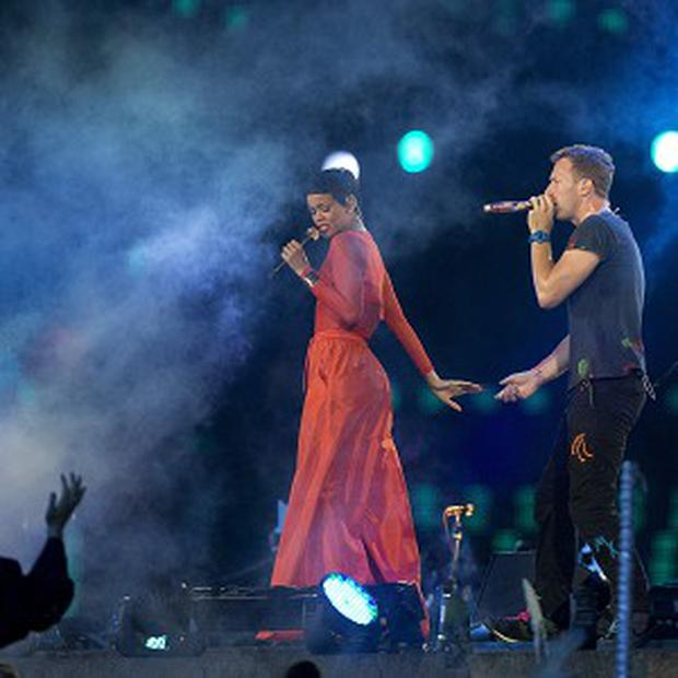 Coldplay and Rihanna performed during the closing ceremony of the Paralympics