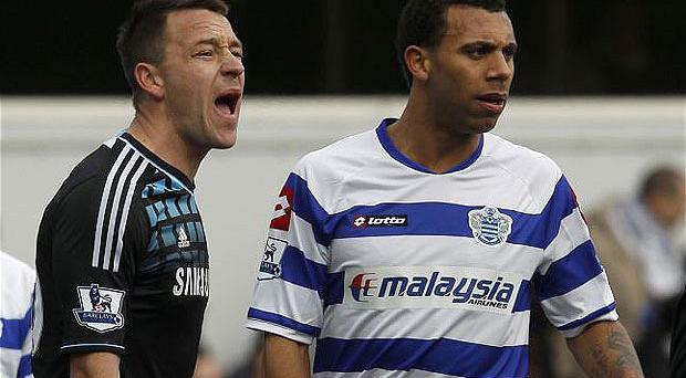 John Terry and Anton Ferdinand in the game that sparked the racism row