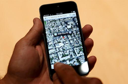 Street maps on the iPhone 5