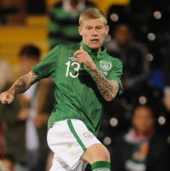 Republic of Ireland's James McClean