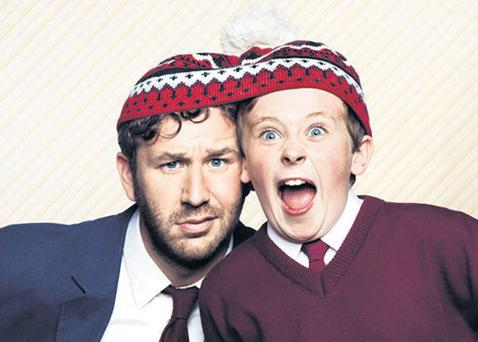 Chris O'Dowd as Sean, the gormless imaginary adviser of schoolboy Martin Moone, played by David Rawle