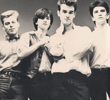 Charming men: Andy Rourke, Johnny Marr, Morrissey and Mike Joyce of The Smiths