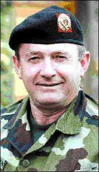 Lt.Colonel Michael O'Sullivan who is leaving Aiken Barracks for a two year stint with the UN in Jerusalem.