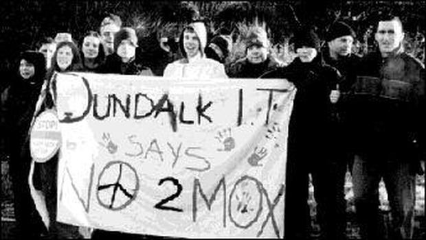 The DKIT students who travelled to Sellafield for the protest