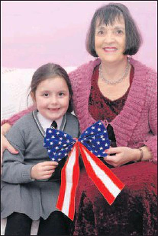 Fran Murphy from Pearse Park with her granddaughter, Doireann Minford.