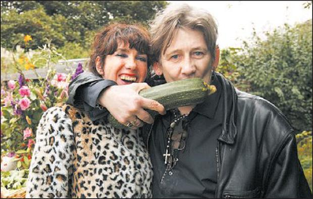 Celebrity writer Victoria Mary Clarke and Shane McGowan in a scene from 'Victoria and Shane Grow Their Own', which was screened on RTÉ last week, and filmed in Anaverna House by Dundalk based Big Mountain Productions