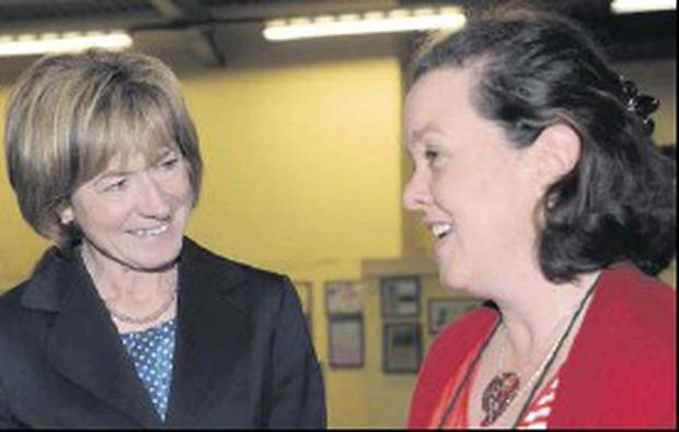 Presidential candidate Mary Davis was in Dundalk on Monday and visited the Rehab Care Centre where she met Maria Brady.