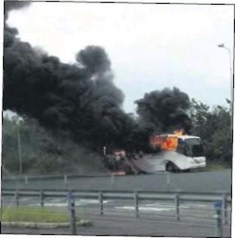 A mobile phone photograph of the blaze.