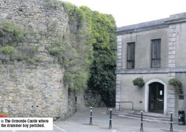 The Ormonde Castle where the drummer boy perished.