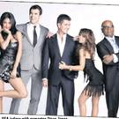 The X Factor USA judges with presenter Steve Jones.