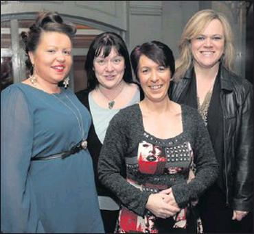 Emma Skelly, Joyce Conroy, Sandra Brown and Leone Parle at the Christmas Party for Kingfisher Kitchens, Enniskerry