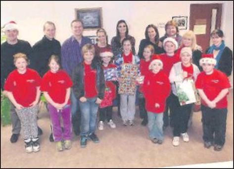 Members of Ashford Children's Choir during the visit to Our Lady's Hospital.