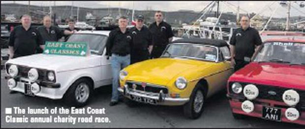 The launch of the East Coast Classic annual charity road race.