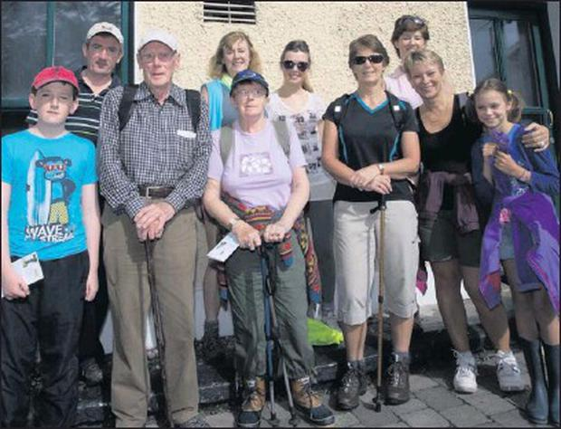 Residents of Delgany who took part in the Heritage Walk organised by Delgany Community Council.