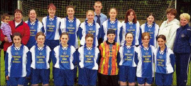 Blarney United Ladies Section show off their new kit, sponsored by Robert Harkin Countrywide Homes Auctioneers, Blarney.