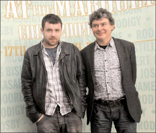 At the launch of Live at the Marquee 2009 were Cork acts Mick Flannery and John Spillane, who close the festival on July 9. Credit: Photo by: Miki Barlok