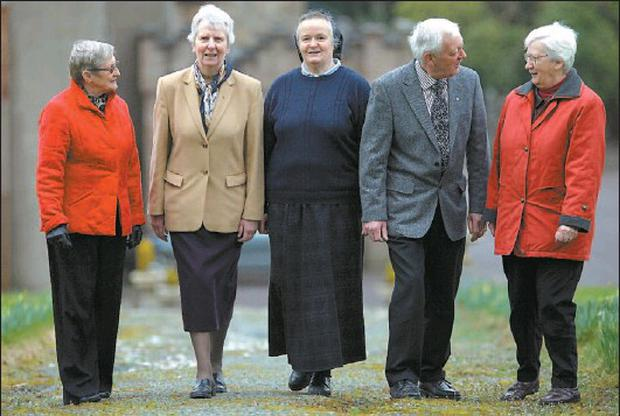 Those were the days... members of the Teaching Sisters who taught at Drishane Secondary School, with past pupil, Betty Dillon(nee O'Riordon), Millstreet,left, Sr Rosemary Barter, Cork Provincial, Infant Jesus Sisters, Sr Peter Fahy, Denny Lane,... Credit: Photo: Valerie O'Sullivan