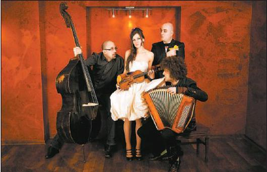 Una Palliser and The Balkan Bears play at the Baltimore Fiddle Fair on Friday, May 7.