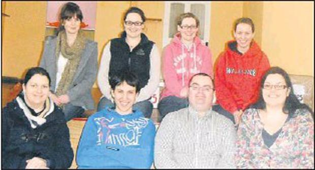 Mitchelstown Macra's drama crew who performed in last weekend's County Finals. Back, from left: Lisa Moakley, Aisling Lewis, Louise O'brien and Cathy Lane. Front: Niamh Carey, Timmy Lane, John Murphy and Clodagh Carey.