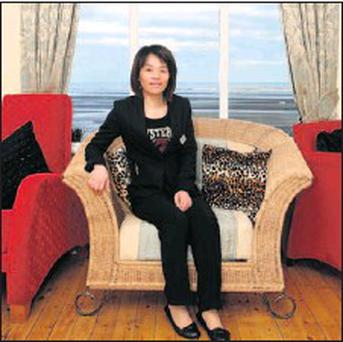 Jain Fei Chen in her restaurant Fate on the beachfront at Bettystown. Credit: Paul Connor