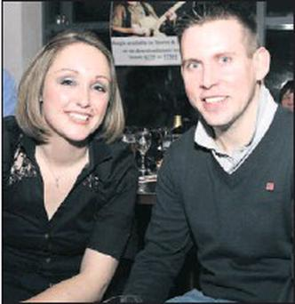 Jane Murphy and Barry Maguire enjoying the live music in Bru on Friday night.