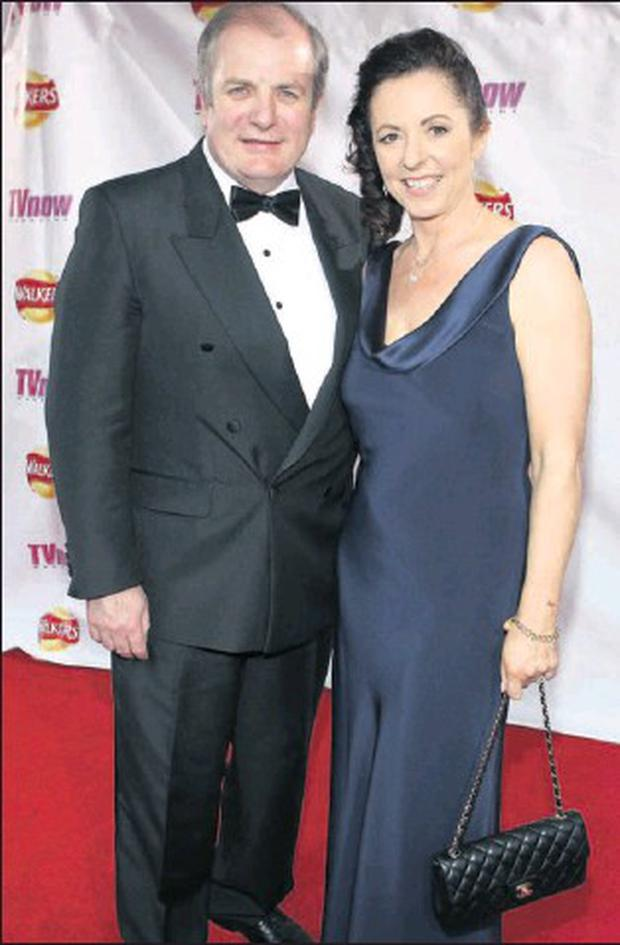 Gavin Duffy and Orlaith Carmody pictured on the red carpet at the recent TV NOW awards in Dublin.