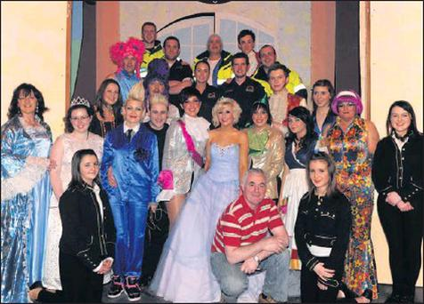 Some of the cast from last year's panto. The group is hitting the boards again from January 21st.