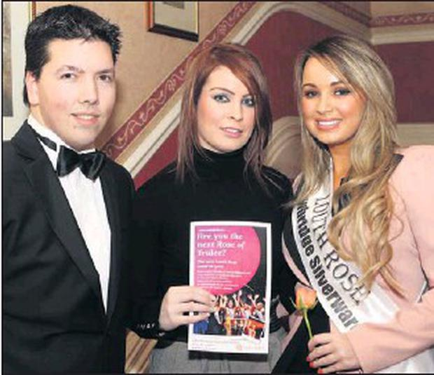 Current Louth Rose Sarah Hoey was joined by current Louth escort Brian  Nordon and Angela Byrne