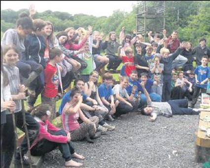 Students from the area at the Colaiste na hInse summer camp.