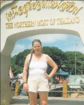 Bridie Farrell in Thailand as part of her fundraising.