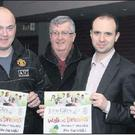 At the John Giles Foundation Wexford Walk of Dreams launch in the Riverside Park Hotel, Enniscorthy, on Wednesday last were (from left): Mick Larkin (Wexford and District League), John Byrne (event co-ordinator), T.J. Grant (Referees' committee and...