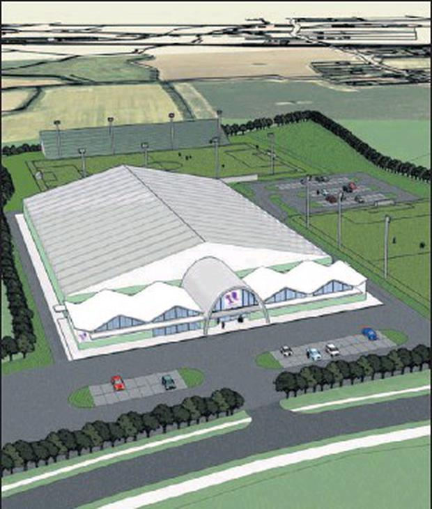 An impression of the new sports complex set for Lusk.