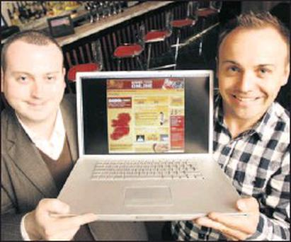 James Galvin Country Manager ireland (Just-eat.ie) and David Butress CEO and Co-founder Just-eat.co.uk