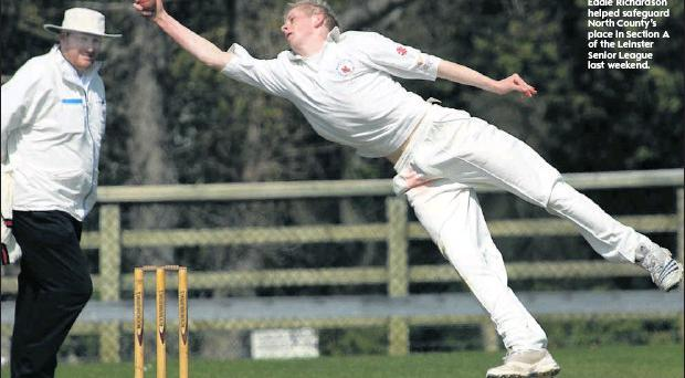Eddie Richardson helped safeguard North County's place in Section A of the Leinster Senior League last weekend.