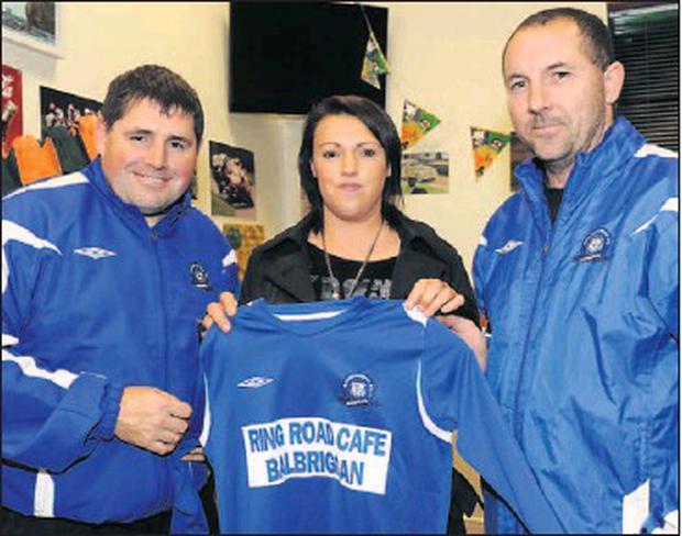 f8b960b25 Balscadden Boys coaches Kevin Kimmage and John McNally are presented with a  new set of jerseys