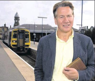 Former Conservative Minister Michael Portillo was in Balbriggan train station over the weekend filming for his television series.