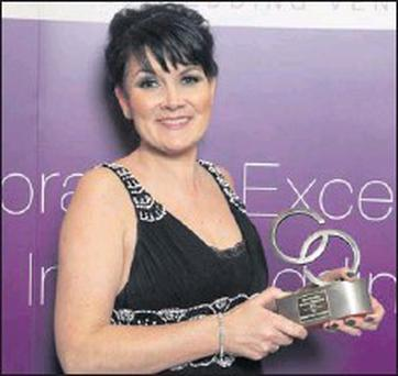 Clionadh Twomey of The Sweet Treat Company who won Best Wedding Industry Newcomer at the 3rd Annual Weddingsonline.ie Awards held on Monday night in the Crowne Plaza, Northwood, Dublin.