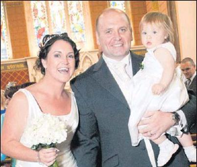 Olivia Mcloughlin and Ken on her wedding day.