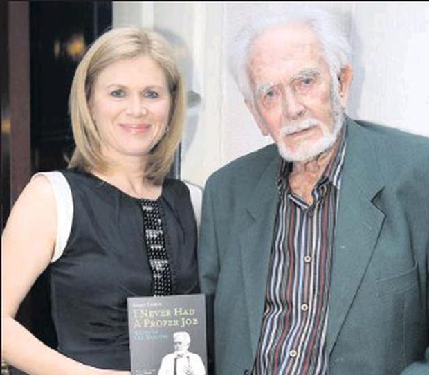 Barry Cassin with his daughter Anne Cassin at the launch of his book at the Royal Irish Academy in Dublin.