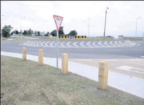 The new roundabout at the Ward Cross.