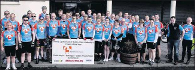 The Dublin Airport Wheelers on last year's charity cycle which raised a huge amount of cash for the 2011 DAA charity of the year, 3Ts.