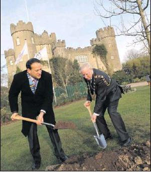 Transport Minister Leo Varadkar and Gerry McGuire planted a tree to mark the renovation of Malahide Castle earlier this year.