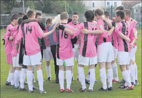 Mick Wallace delivers his final words of advice to the Wexford Youths before Sunday's success in Ozier Park, Waterford.