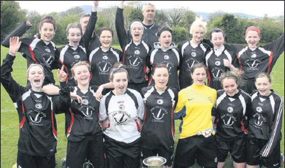 The Shelbourne Under-18 side which defeated Ferns United in the Cup final.