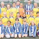 The Wexford Celtic under-10, 12 and 14 teams at the FAI girls soccer blitz and fun day at Ferrycarraig Park.