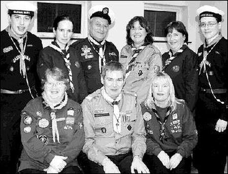 New Scout Association first meeting on Friday night in Tralee – front from left: Mary Heaslip, 2nd Kerry Scouts, Jimmy O'Donnell, Commissioner, and June O'Brien, 8th Kerry Fenit; back: David Raftery, Port of Tralee Sea Scouts, Caroline O'Grady, Brian Daly, Programme Commissioner for Water Activities, Treasa Guerin, Maura Lyons, and Danny Holland, Port of Tralee Sea Scouts. Photo by John Cleary