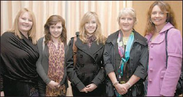 Enjoying the Kerry Film Festival awards night in Fels Point Hotel on Friday night were Feraldine Hourigan, Sophie, Charlotte and Jacinta Costello, and Sharon O'Mahony. Credit: Photo: Frank O'Connor